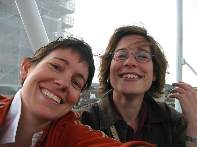 Paula and Terri on the ferris wheel at Zurifest, summer 2004.