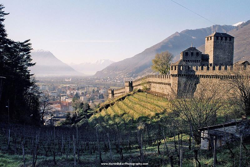 Castelgrande, Bellinzona, Ticino, Switzerland.