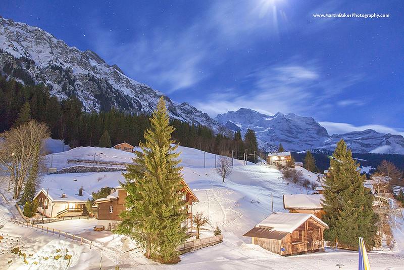 Wengen, The Lauterbrunnen Valley, Bernese Oberland, Switzerland.