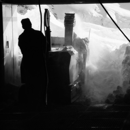 Man Clearing Snow - Jungfraujoch, Switzerland