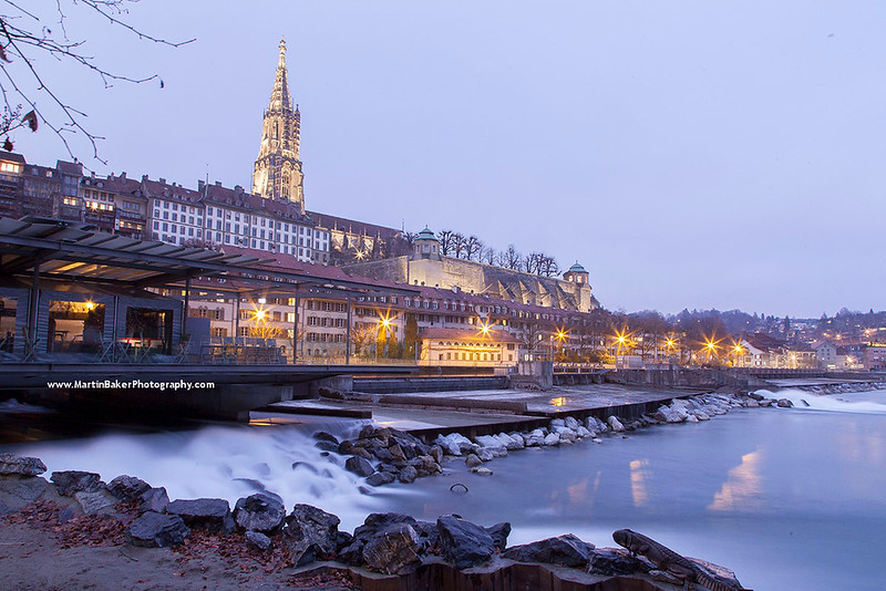 River Aare and the Münster (Cathedral), Bern, Switzerland.