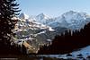 Eiger, Mönch and Jungfrau, Lauterbrunnen Valley, Bernese Oberland, Switzerland.