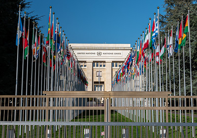 flags & fence UNOG