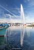 Jet d'Eau and Lake Geneva, Geneva, Switzerland.