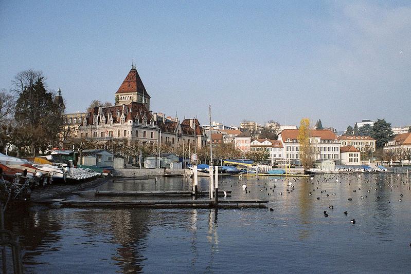 Lake Geneva, Lausanne, Switzerland.