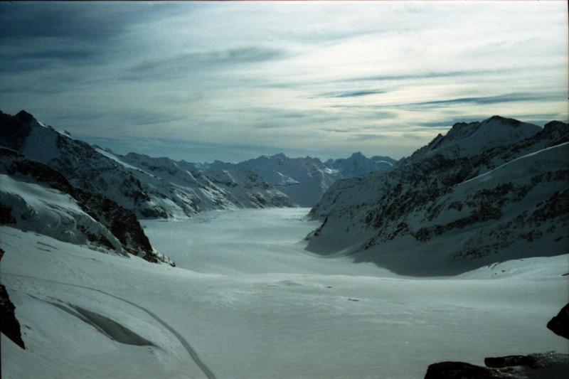 Glaciers at Jungfraujoch, Switzerland