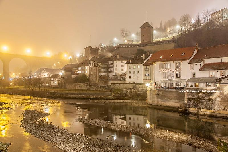 River Sarine, Fribourg, Switzerland.