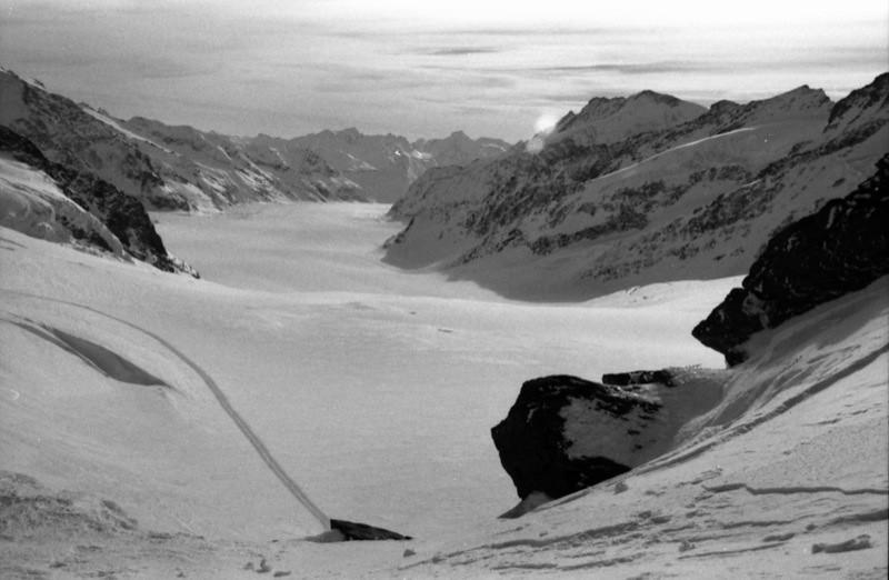 Glacier at Jungfraujoch, Switzerland
