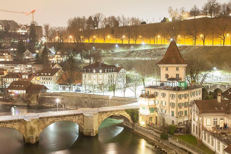Untertorbrücke and Old Town, Bern, Switzerland.