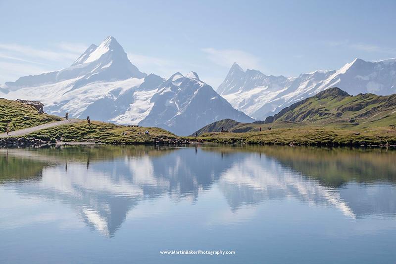 Bachalpsee, Grindelwald, The Alps, Bernese Oberland, Switzerland.
