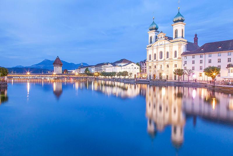 Jesuit Church, Lucerne, Switzerland.