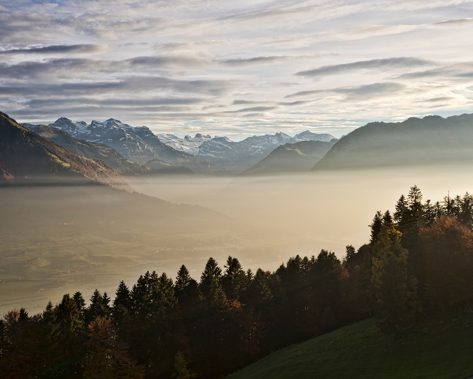 swiss mountains dawn hotel honegg lucern switzerland