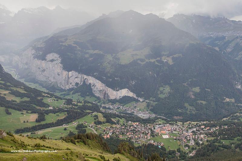 Wengen and the Lauterbrunnen Valley, Bernese Oberland, Switzerland.