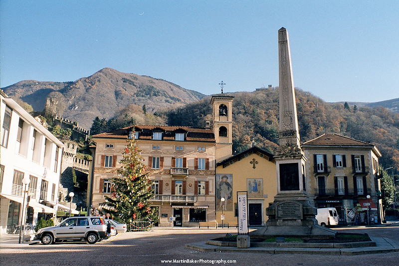 Chiesa San Rocco, Piazza Indipendenza, Bellinzona, Ticino, Switzerland.