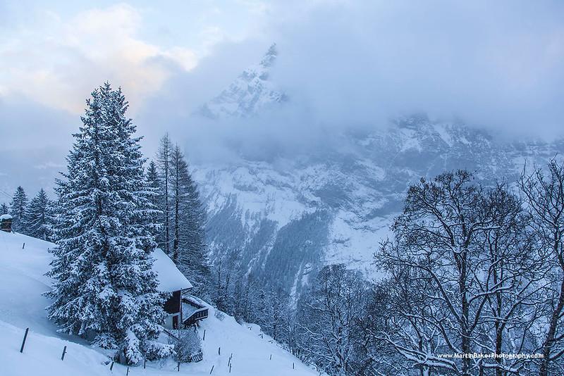 Mürren, The Lauterbrunnen Valley, Bernese Oberland, Switzerland.