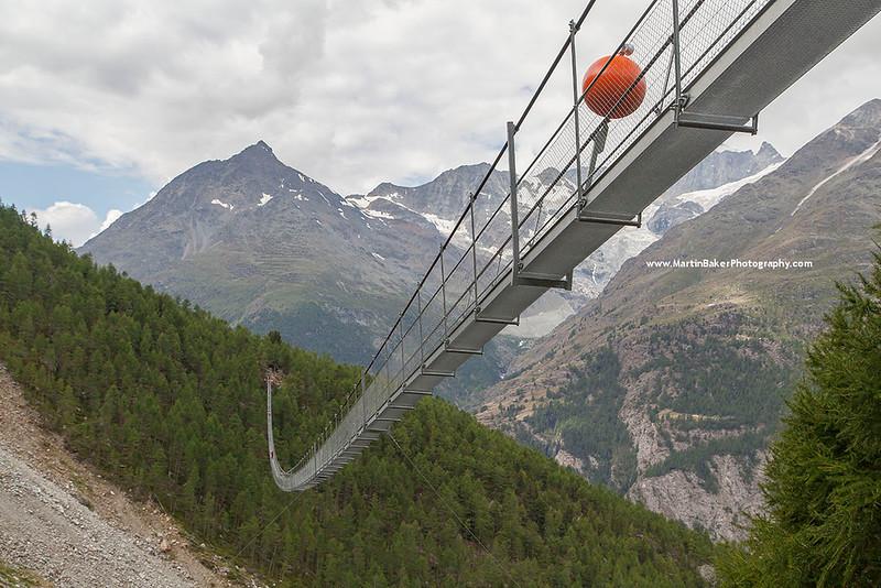 Charles Kuonen Suspension Bridge, Randa, Switzerland.