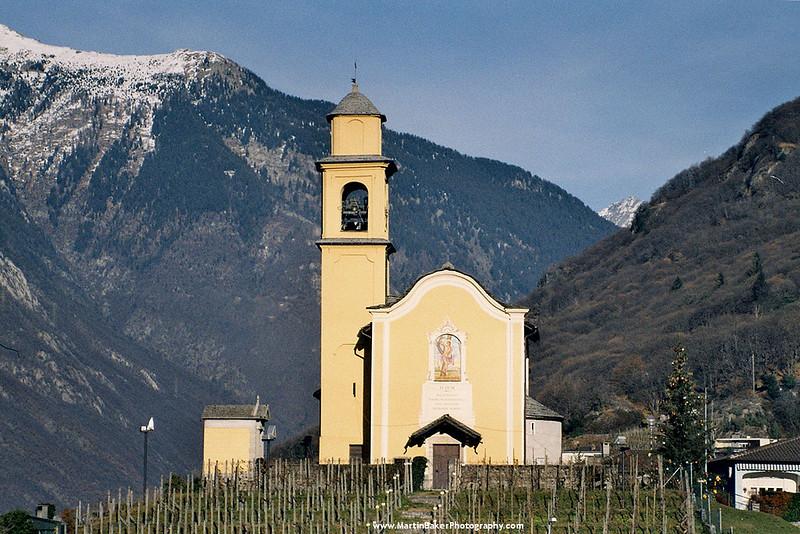 Chiesa di San Sebastiano, Bellinzona, Ticino, Switzerland.