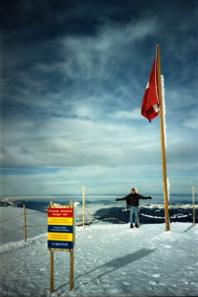 Man on top of the Mountain - Jungfraujoch, Switzerland