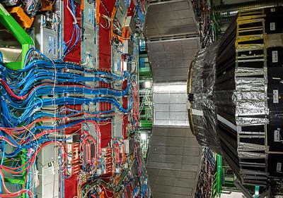 Compact Muon Solenoid detector LHC opren