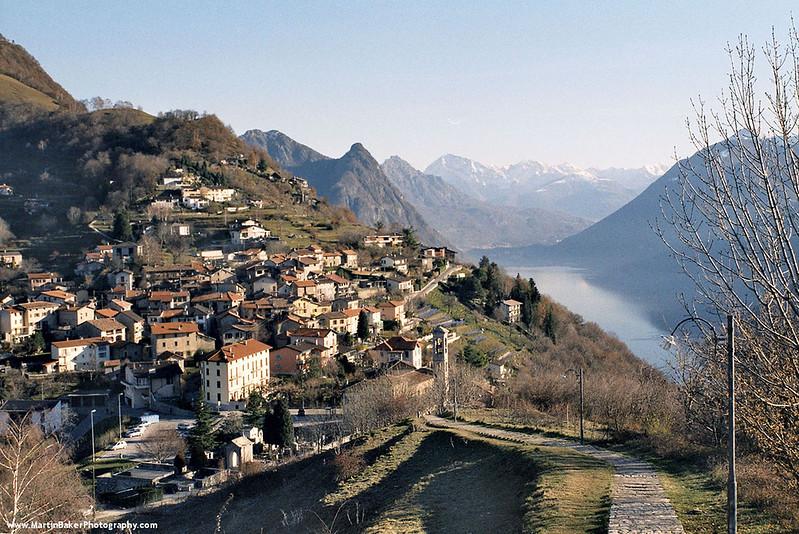 Lago di Lugano, Lugano, Ticino, Switzerland.