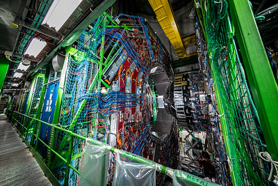 walkway along Compact Muon Solenoid Large Hadron Collider
