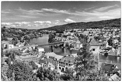 View of the rhine from Schaffhausen fortress