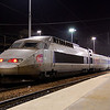 PSE TGV set No. 08 at Paris Gare du Nord on a cold January evening in 2009.