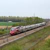 A Thalys PBKA set speeds north near Avelin, France.