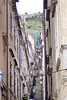 Looking up the narrow side streets from the Stradun