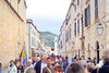Tourists on Stradun, the main street of Dubrovnik.