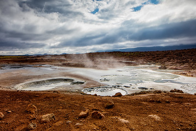 Since the entire island of Iceland is volcanic geothermal features are to be found in many places.  Watch your step, no warning signs or restraining ropes here.