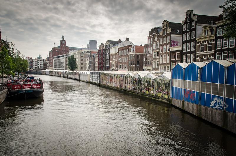 Amsterdam's famous floating flower market.
