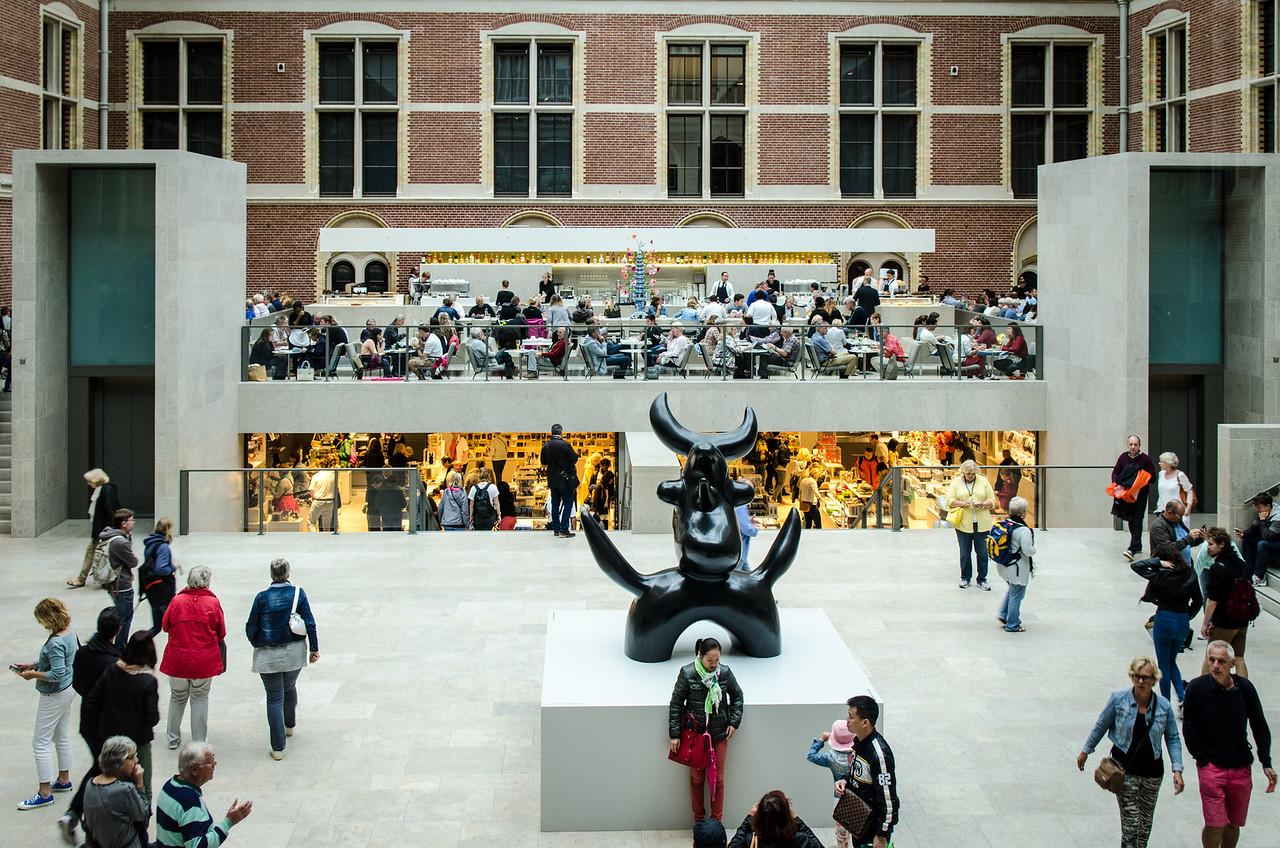 The main lobby of the Rijksmuseum.