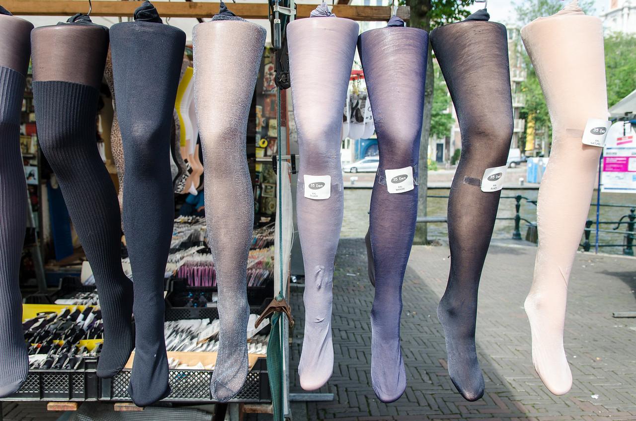 Stockings for sale, Waterlooplein Market.