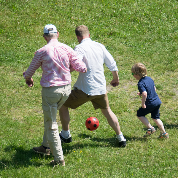 Three generations of Dutch football fans