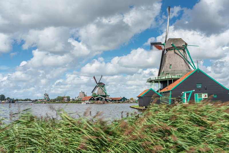 De Kat is the only remaining working windmill in the world which makes paint. The mill is in the Zaanse Schans, Zaanstad. The original mill 'De Kat' was built in 1646 as an oil mill. In 1782 the mill was destroyed by fire but the mill was rapidly rebuilt again.