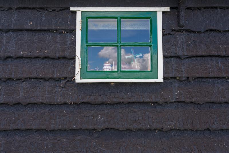 A tar coated house.