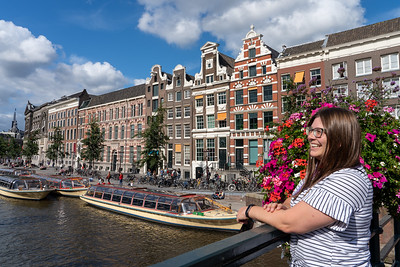 Amsterdam canal in summer
