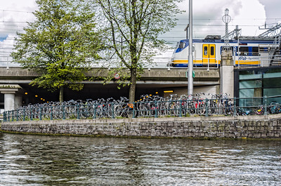 Amsyerdam a city of bicyles and trains