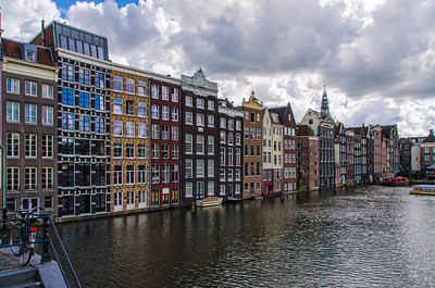 Buildings along the canal, Amsterdam