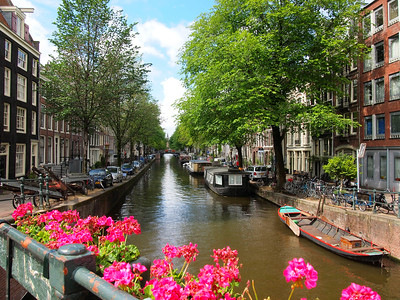 Amsterdam canal in the summer