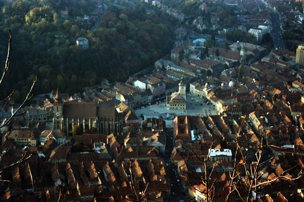 Aerial View of Brasov - Transylvania, Romania