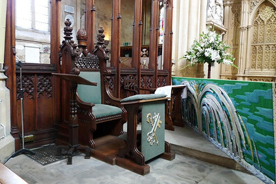 Chair and altar decoration
