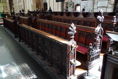 Choir stalls in Bath Abbey