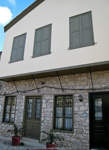 Stone house on a street in Alaçatı.