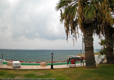 View across the bay from the beach house in Ardıç.