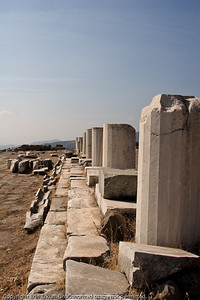 Ruins of the Pergamum Library which was built by Eumenes II.  It was second in size to the library at Alexandria in Egypt and is said to have contained 200,000 volumes. Mark Antony gave the contents of the library to Cleopatra as a wedding present to be added to the collection of the library in Alexandria.