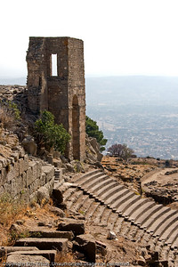 This tower, which stands at the top left of the theater in Pergamum, is Byzantine in origin.