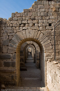 This tunnel is part of the substructure of the Temple of Trajan at the Acropolis of Pergamum.