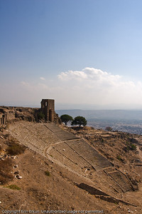 The theater at Pergamum from the far side of the tunnels leading to the Temple of Trajan.
